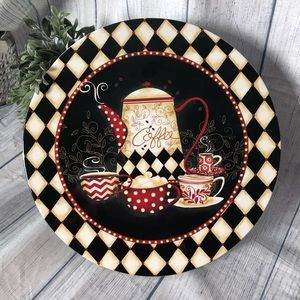 Certified International Ceramic Cake Stand Coffee